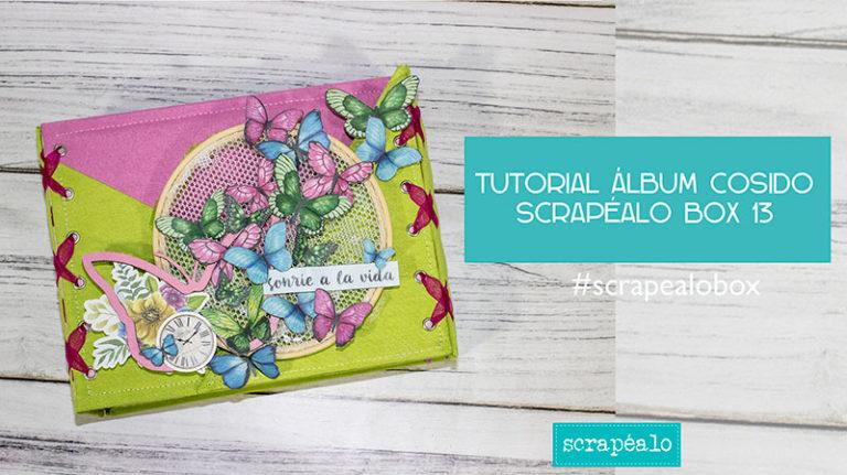 Tutorial álbum cosido con la Scrapéalo Box #13