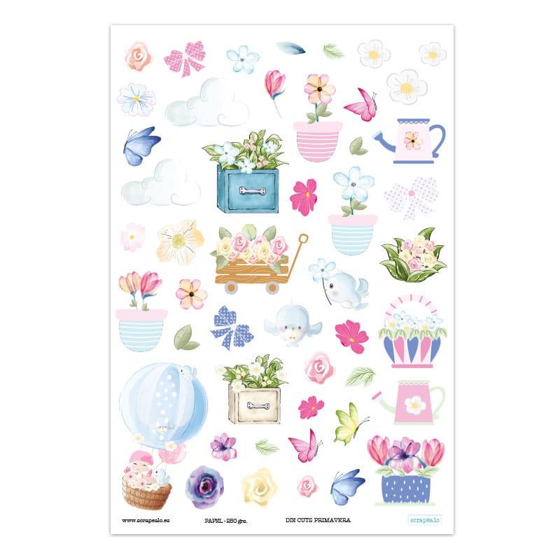 Set de Die Cuts colección «Primavera» de Scrapéalo.