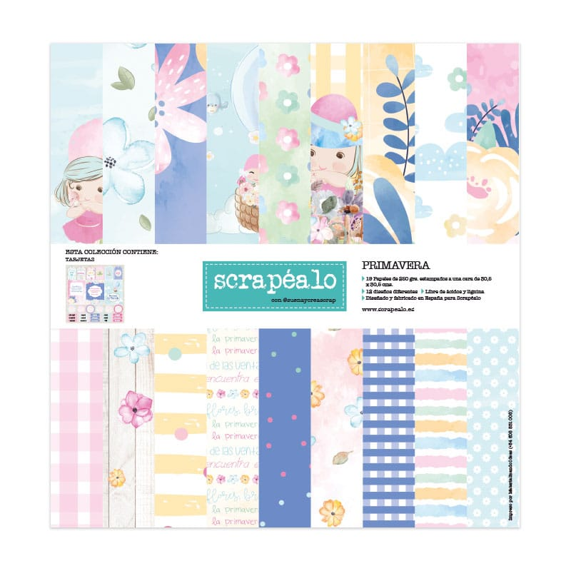 Kit de papel para scrpbooking colección «Primavera» de Scrapéalo