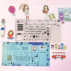 """Set sellos journaling """"culo inquieto"""" col. «Piccolina Brava culo inquieto» - My Sweet Valentine"""