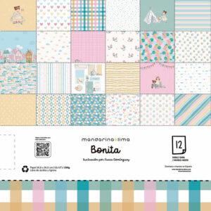 Colección de papeles para scrapbooking «Bonita» de mandarina&lima