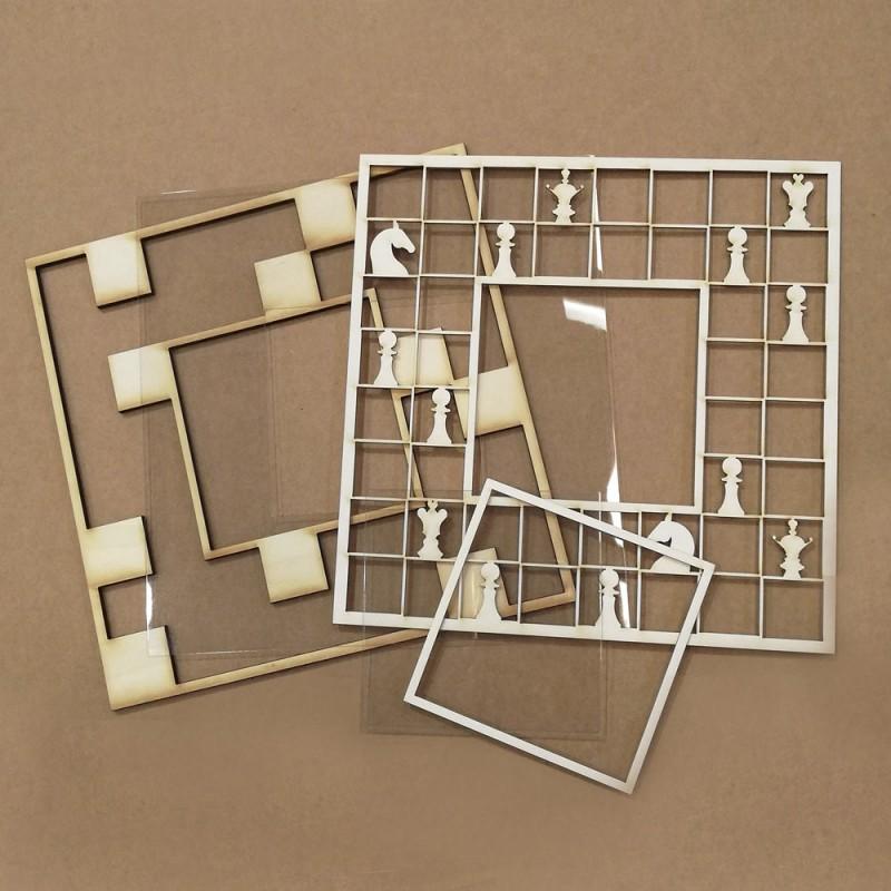 Shaker tablero de ajedrez de Kora Projects