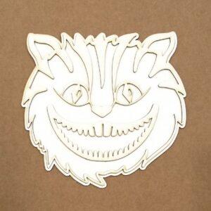 Silueta de chipboard Gato de Cheshire de Kora Projects