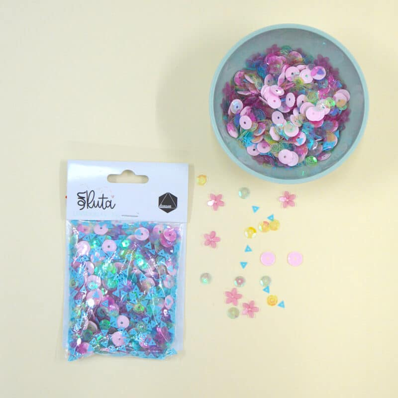 Paquete de lentejuelas para complementar la colección «En Ruta» de Dunaon