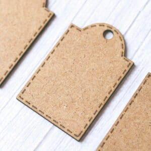 Set de etiquetas en madera DM de estilo retro de Scrapéalo