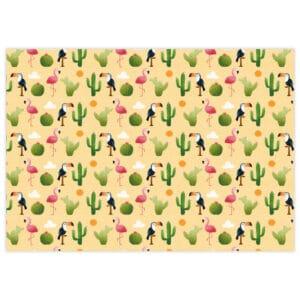 """Tela de encuadernar """"Cactus"""" de la col. «Summer Love» de Scrapéalo"""