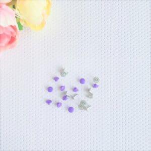 Remaches de presión en color lila de Pandora Scrap