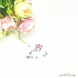 Remaches de presión en color rosa pastel de Pandora Scrap