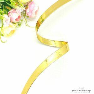 Correa de polipiel oro espejo 20 mm. de Pandora Scrap
